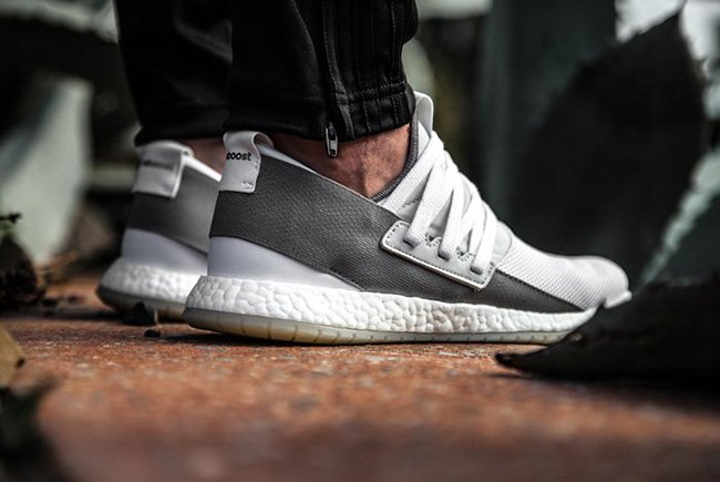 adidas pure boost r white grey sneakerfiles. Black Bedroom Furniture Sets. Home Design Ideas