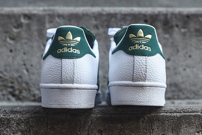 adidas Superstar Mesh Tongue White Green