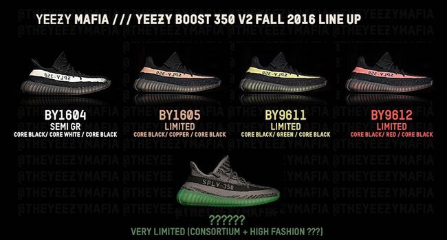 Adidas Yeezy Boost 350 V2 Colors