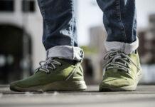 adidas ZX Flux ADV Olive Cargo On Feet