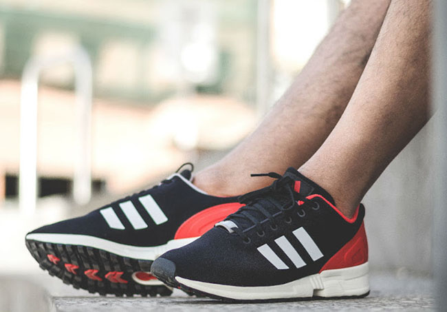 Adidas Zx Flux Red Black White