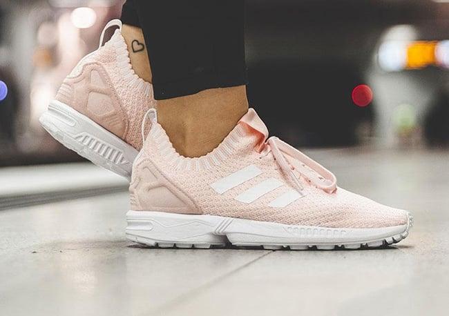 adidas ZX Flux White Primeknit Shoes
