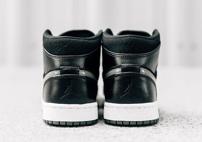 Air Jordan 1 Mid Winter Black Wool