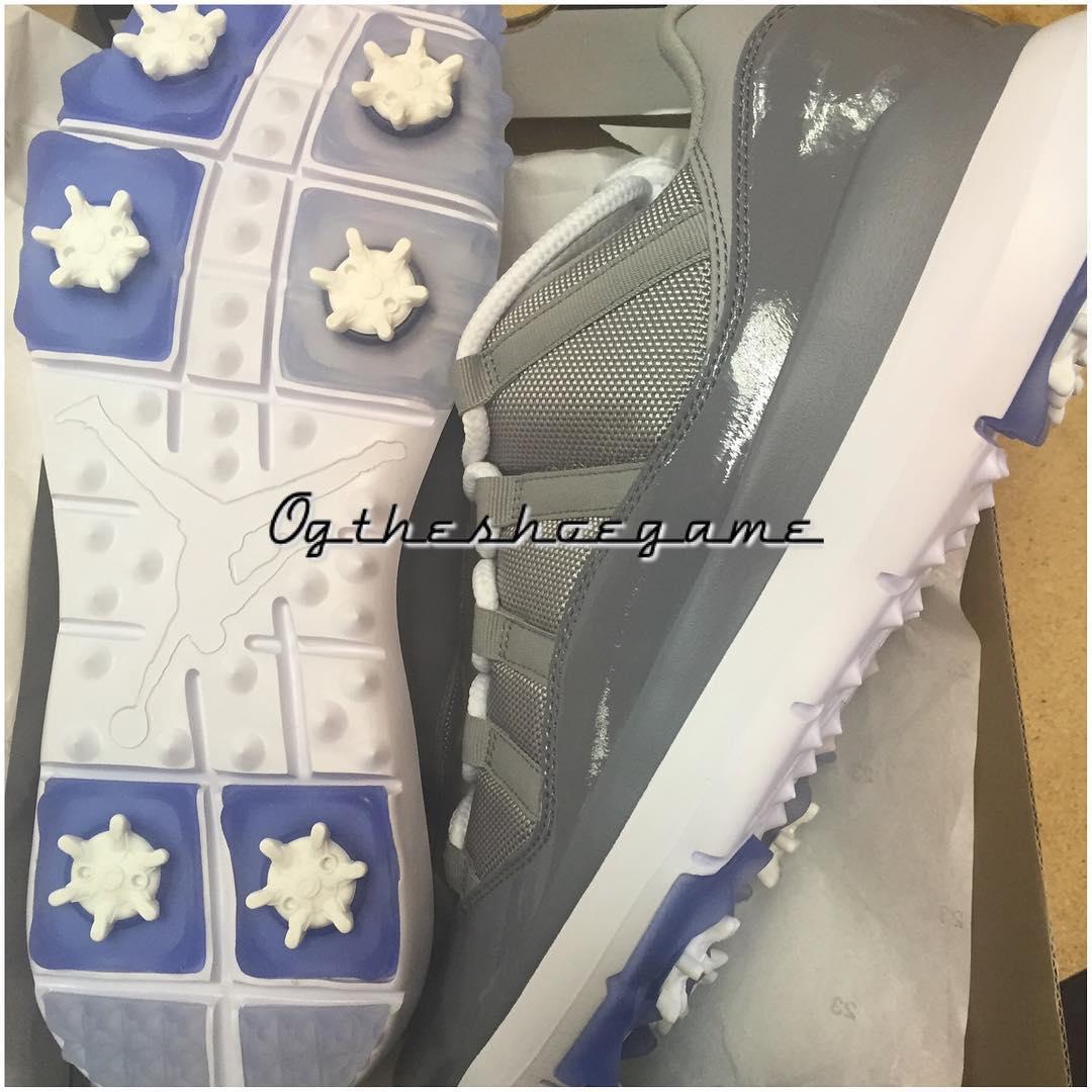 Air Jordan 11 Golf Shoes Cool Grey