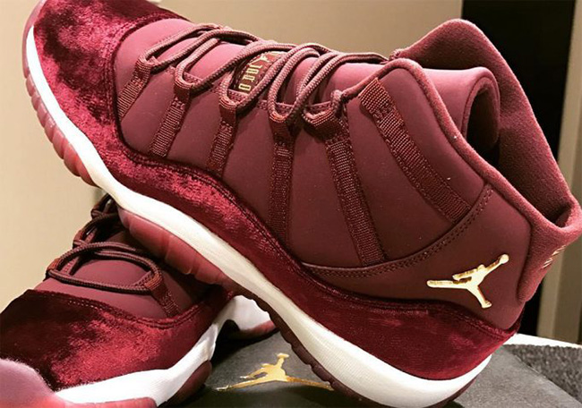 First Look: Air Jordan 11 Velvet 'Night Maroon'