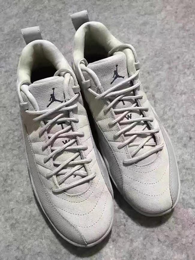 831ebc17f67 Air Jordan 12 Low 2017 Grey Navy Blue Yellow | SneakerFiles