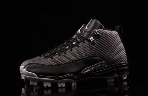 Air Jordan 12 MCS Baseball Cleats Black