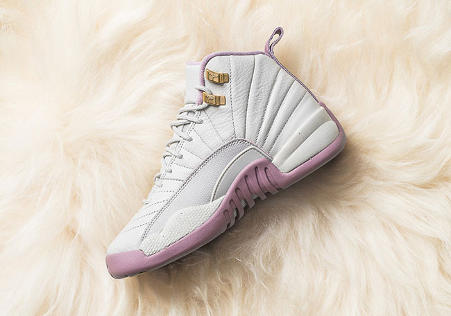 the best attitude edfb3 58eb2 Air Jordan 12 GS Heiress Plum Fog Light Bone | SneakerFiles