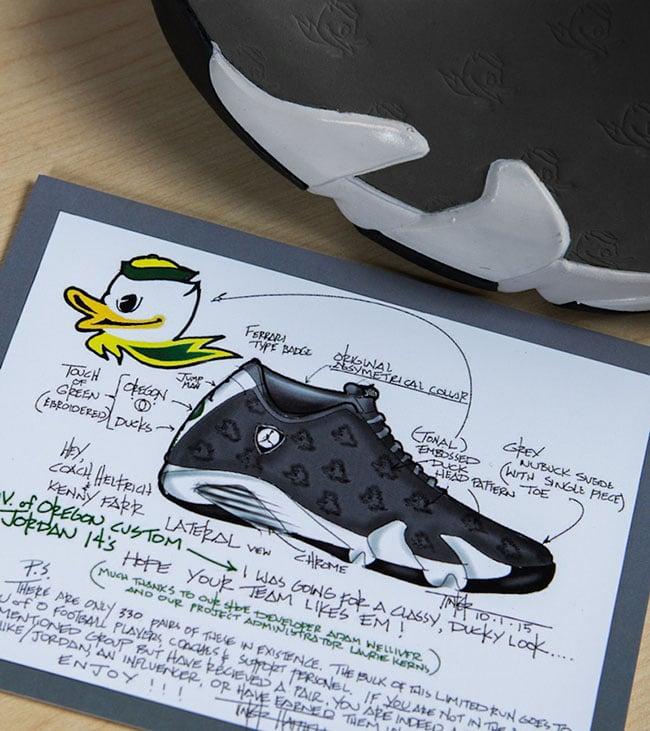 Air Jordan 14 Grey Oregon Ducks