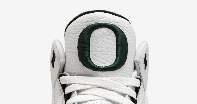 Air Jordan 3 Oregon Ducks White