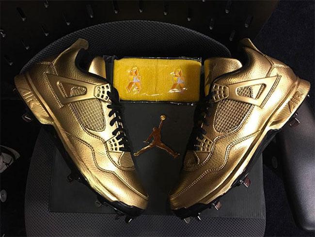 Air Jordan 4 Gold Cleats Gio Gonzalez  c37944926d