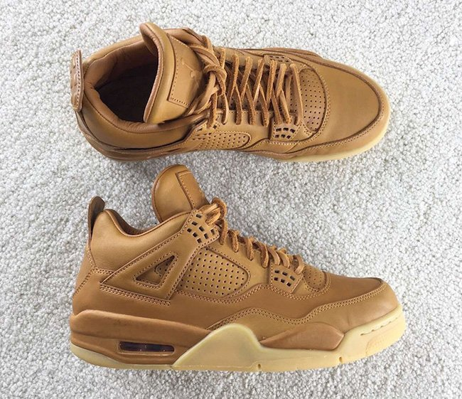 3d541c643ae7 Air Jordan 4 Premium Ginger Wheat Gum Yellow
