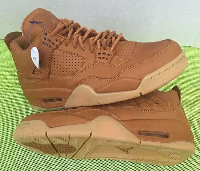 Air Jordan 4 Premium Ginger Wheat Gum Yellow
