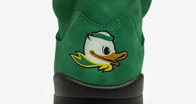 Air Jordan 5 Green Oregon Ducks