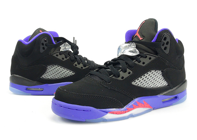 best loved 6dc29 4d03d Air Jordan 5 GS Raptors Black Ember Glow Fierce Purple Review On Feet