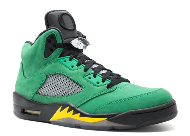 Air Jordan 5 Oregon Ducks Green Yellow