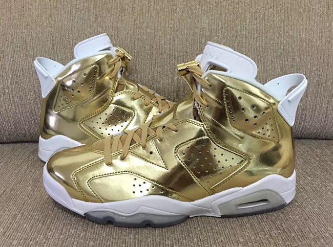 Air Jordan 6 Pinnacle Gold October 2016