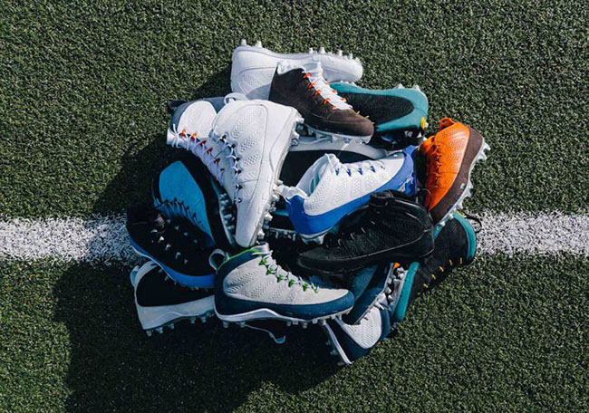 Air Jordan 9 Football Cleats Sneakerfiles