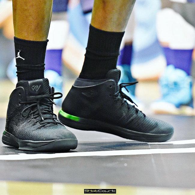 Air Jordan XXX1 Black Green Russell Westbrook