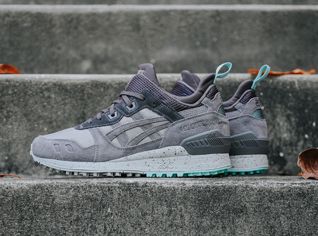 reputable site cb4ac 8cecb italy asics gel lyte grey turquoise d861f b8cd6
