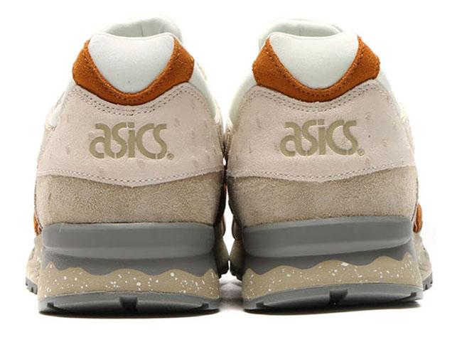 Asics Gel Lyte V Ostrich Slight White Tan Leather