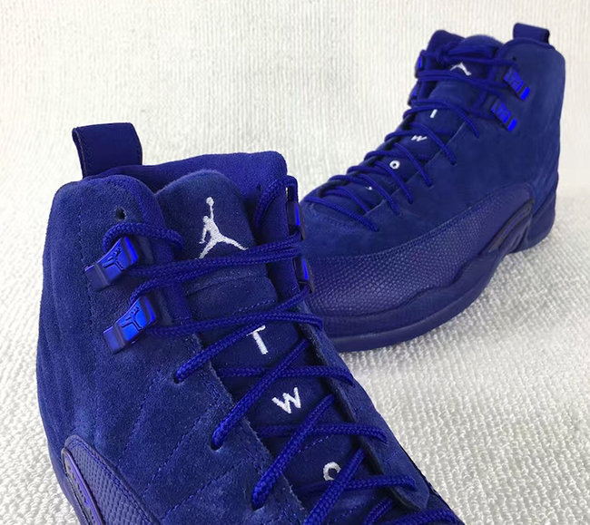Blue Suede Air Jordan 12 Premium Retro