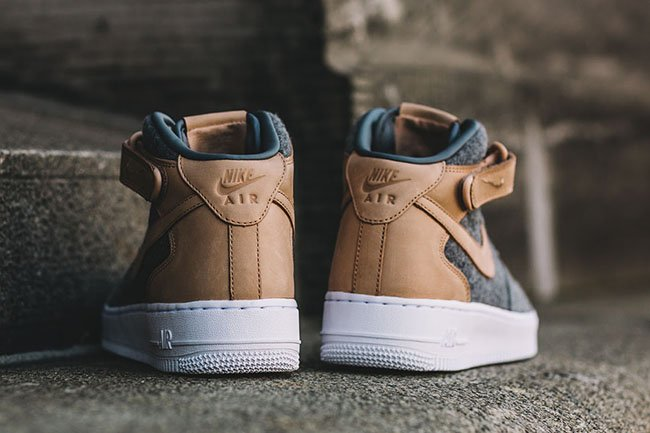 Nike Air Force 1 07 Mid Leather Premium Wool