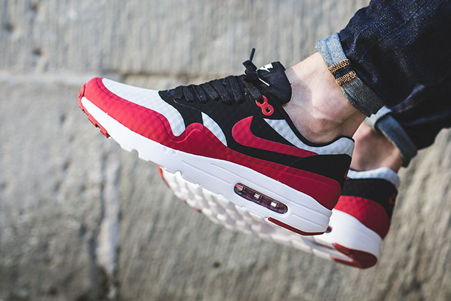 353636ef6034d6 cheap Nike Air Max 1 Ultra Essential Gym Red and Black ...
