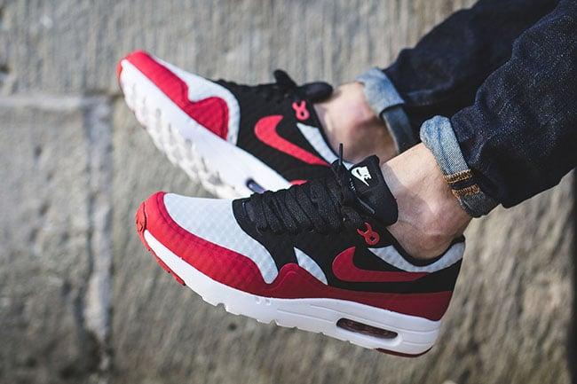 2f5446e59a6 cheap Nike Air Max 1 Ultra Essential Gym Red and Black ...