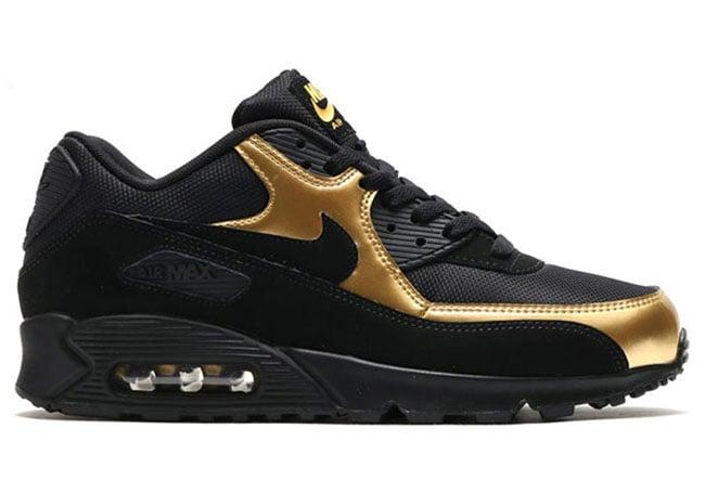 nike air max 90 black gold