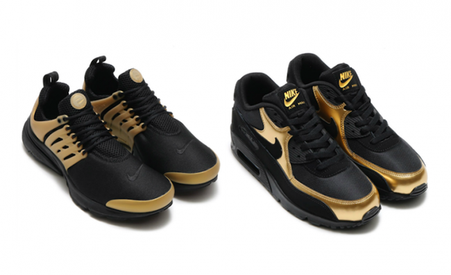 Nike Air Max 90 Gold And Black