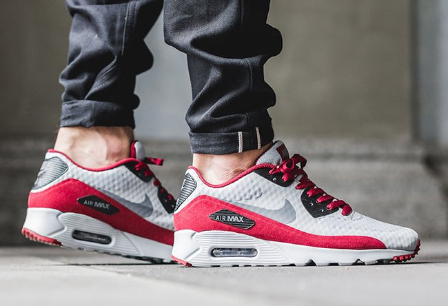 finest selection 2a14d a0c11 Nike Air Max 90 Ultra Essential Wolf Grey Team Red