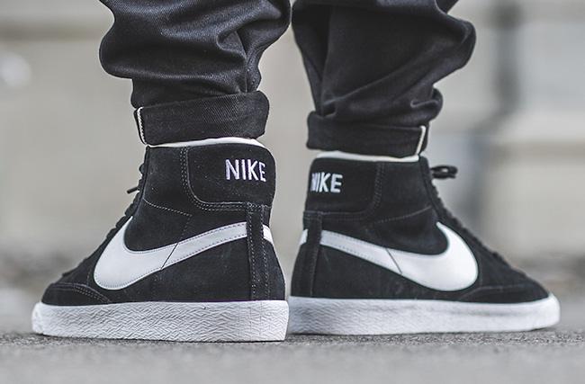 Nike Blazer Mid Premium Black White  fb8711c9a
