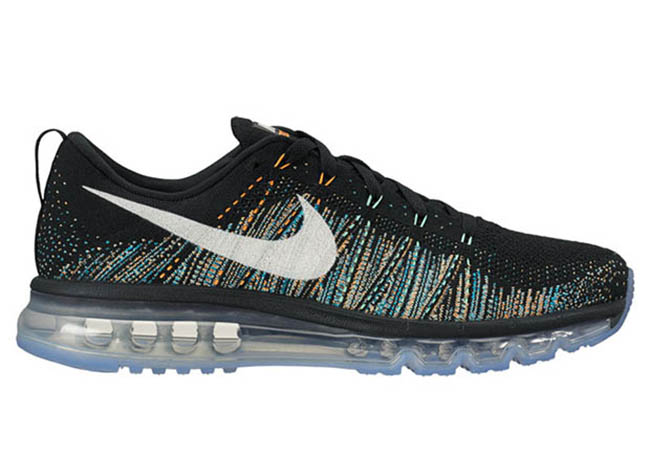 new concept 202ab f0d4e Nike Flyknit Air Max Summit Black White Blue Glow Citrus Green Glow