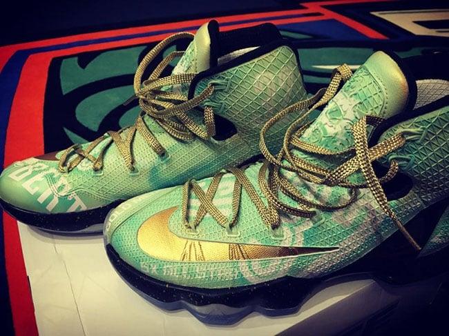 Nike lebron 13 elite swin cash retirement custom for Custom elite com