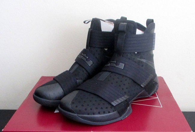 1ed8aeaf53b0 ... Nike LeBron Soldier 10 Black Space ...
