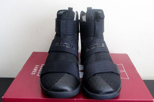 reputable site d0ae3 de167 Nike LeBron Soldier 10 Black Space