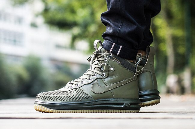 best website f1816 188a1 Nike Lunar Force 1 Duckboot Medium Olive