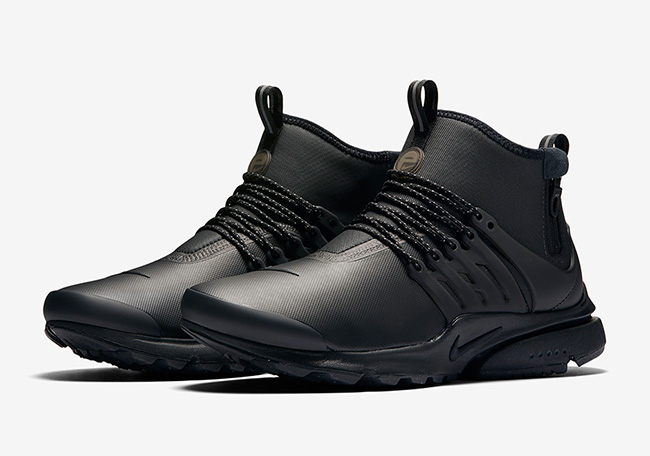 Nike Air Presto Mid Utility Black Reflect Silver Dark Grey