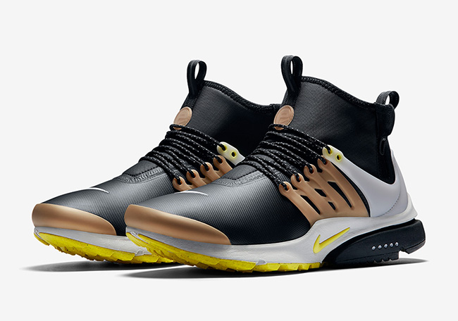 Nike Air Presto Mid Utility Black Yellow Streak