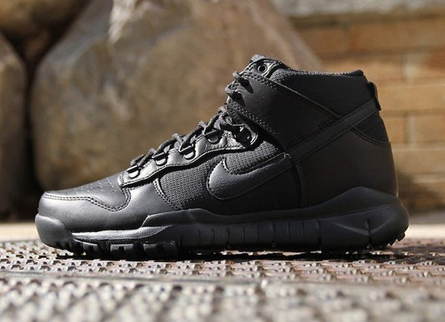 finest selection c503f b53b4 ... Nike SB Dunk High Boot Drops in Triple Black and Military Brown  well-wreapped ...