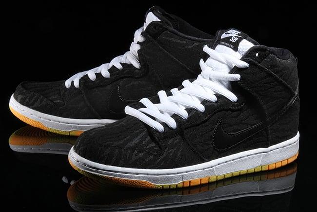 Nike SB Dunk High Skunk Black Laser Orange