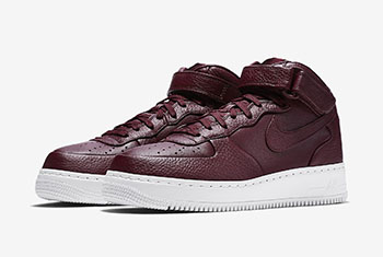 NikeLab Air Force 1 Mid Night Maroon