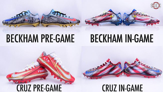 Odell Beckham Jr Victor Cruz 9/11 Nike Cleats