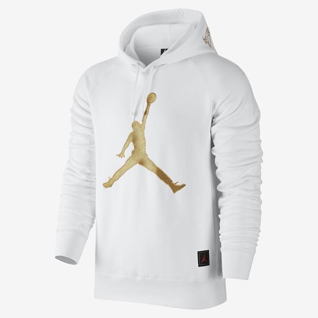 White Jordans Shirt With Wings Design