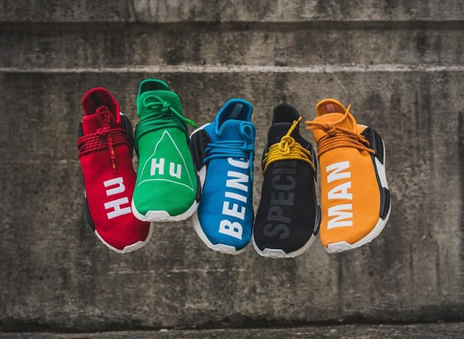 ADIDAS NMD HUMAN RACE BLACK WITH YELLOW LACES FROM