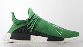 Pharrell adidas NMD HU Green