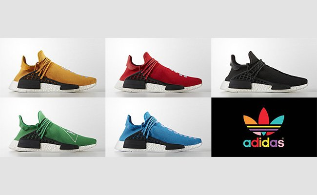 Pharrell adidas NMD Human Race Colorways