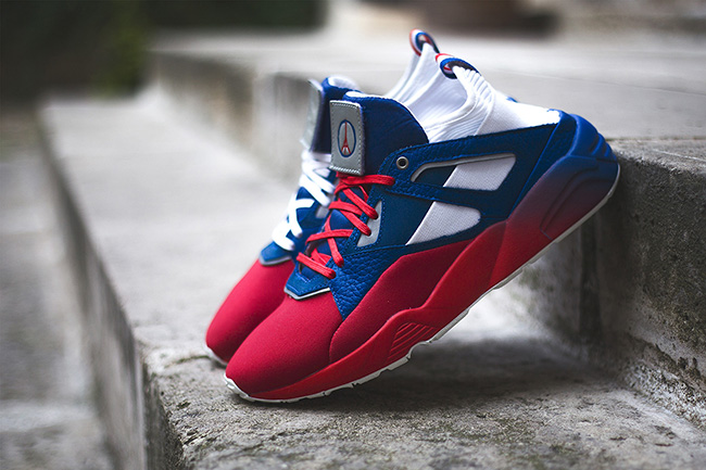 55a40edd81f0 85%OFF Sneakerness x Puma Blaze of Glory Sock Paris Patriot Pack ...