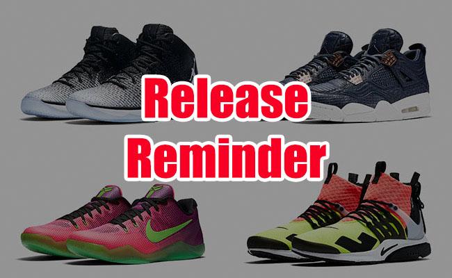 Sneakers Release September 15 17 2016